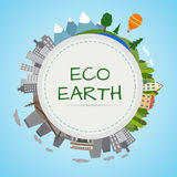 Планета экологичности Стоковое фото RF