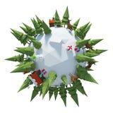 Планета 3D зимы стоковые изображения rf