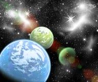 Планеты в космосе Стоковые Изображения