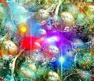 Планеты и красочное небо Стоковые Изображения RF