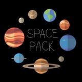 Планеты космоса стоковые изображения rf