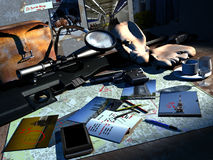 Планирование вооружённого ограбления Стоковые Фото