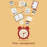 Планирование концепции контроля времени, организация, рабочее временя иллюстрация штока