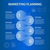 Планирование маркетинга срока ifographic Стоковое Фото