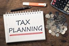 Планирование налогов стоковые изображения rf