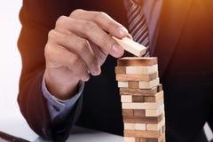 Планирование, риск и стратегия в концепции дела, gam бизнесмена Стоковое Фото