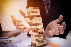Планирование, риск и стратегия в концепции дела, gam бизнесмена Стоковые Изображения