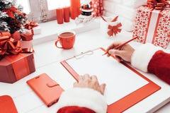 Планирование Санты для рождества Стоковые Изображения RF