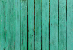 Планки покрашенные зеленым цветом деревянные Стоковое Изображение RF