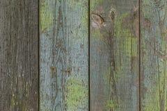Планки предпосылки покрашенные зеленым цветом старые Стоковые Фотографии RF