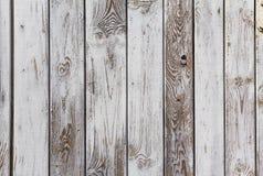 Планки стены деревянные покрасили серую белизну Стоковое Фото