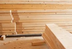 планки штабелируют деревянное Стоковые Изображения RF
