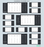 Плановик 2017 календаря Дизайн иллюстрации вектора Стоковое фото RF