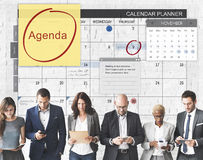 Плановик повестки дня для того чтобы сделать концепцию планирования списка Стоковая Фотография