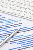 Планово-контрольный график и кнопочная панель Стоковое фото RF