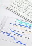 Планово-контрольный график и кнопочная панель Стоковое Изображение RF
