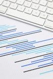 Планово-контрольный график с клавиатурой Стоковое Фото