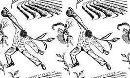 Плантации чая и человек чая привлекательности иллюстрация вектора