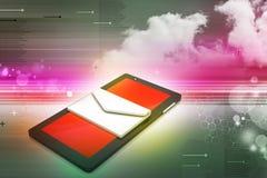 Планшет с электронной почтой Стоковое Изображение