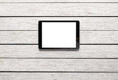 Планшет цифров с изолированным экраном Стоковое Фото