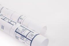 планы архитектора 3d представляют крены стоковая фотография rf
