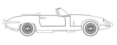 План автомобиля спорт Стоковое Изображение