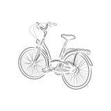 План велосипеда, иллюстрации вектора Стоковое Изображение