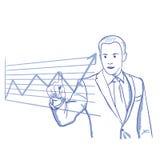 План-график бизнесмена вкладов иллюстрация штока