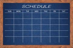 План-график деятельности при доски Стоковые Фотографии RF