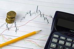 План-график дела и финансов Стоковая Фотография RF