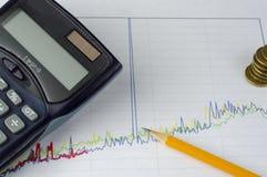 План-график дела и финансов Стоковые Изображения