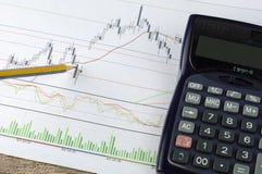 План-график дела и финансов Стоковые Изображения RF