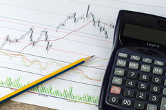 План-график дела и финансов Стоковые Фотографии RF