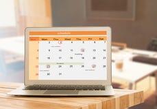 План-график на календаре как напоминания Стоковое Изображение RF