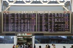 План-график отклонения расписания авиапорта стоковые изображения rf