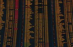 План-график приведенный экрана отклонений полетов Стоковые Изображения RF