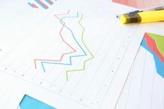 План-график рецессии, торможения и спасения Стоковое Фото
