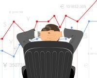 План-график торговца наблюдая бесплатная иллюстрация