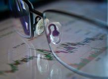 План-график фондовой биржи Стоковое Фото
