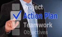 План действия дела Стоковое Изображение