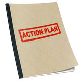 План действия Стоковая Фотография RF