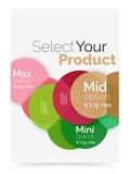 План дела - выберите ваш продукт с вариантами образца Стоковое фото RF