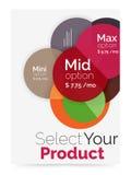 План дела - выберите ваш продукт с вариантами образца Стоковое Изображение