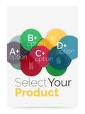 План дела - выберите ваш продукт с вариантами образца Стоковые Фотографии RF