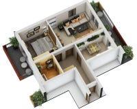 план здания 3d Стоковое Изображение RF