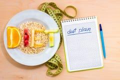 план диетпитания Стоковое Изображение RF