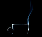 План испаряясь кофейной чашки Стоковое фото RF