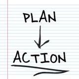 План и действие Стоковая Фотография RF