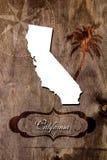 План карты положения Калифорнии плаката стоковое изображение