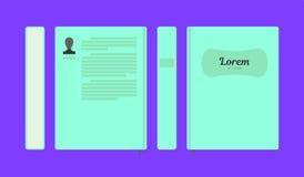 План книги вектора плоский красочный стоковые фотографии rf